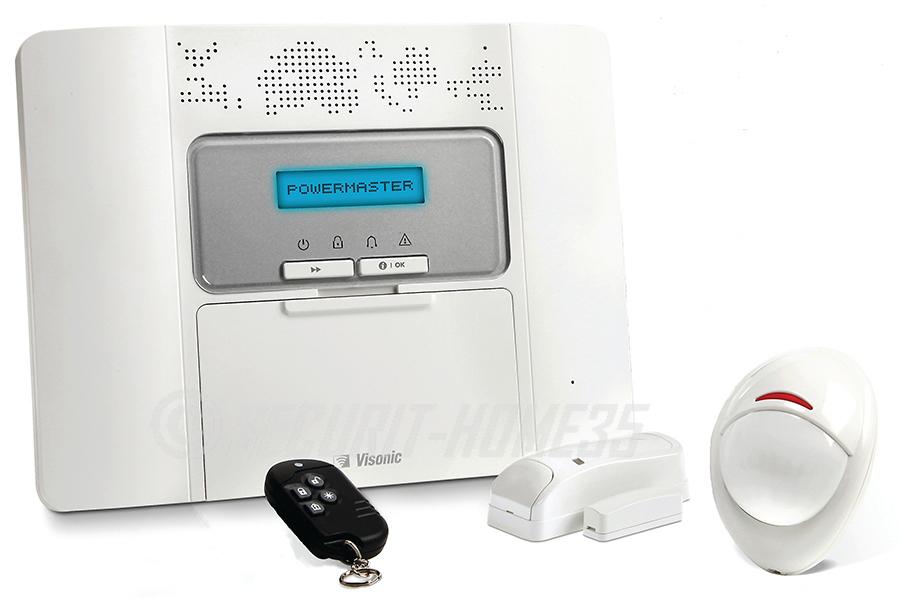 alarme maison sans fil visonic powermaster 30 securit home 35. Black Bedroom Furniture Sets. Home Design Ideas
