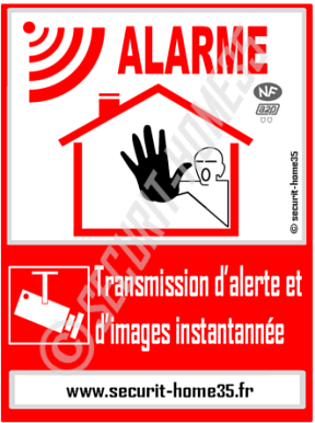 Panneau dissuasion alarme securit home35