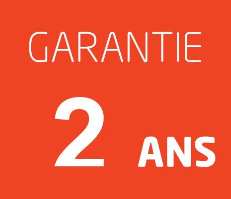 2ans de garantie